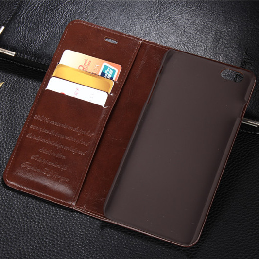 Luxury Genuine Leather Magnetic Auto Flip Card Holder Case For iPhone 6s plus apple iphone 6 plus Original Brand Cell Phone Case(China (Mainland))