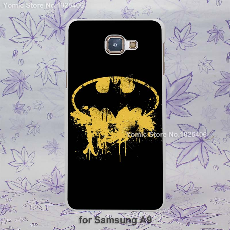 batman retro logo design hard White Skin Case for Samsung Galaxy a3 a5 a7 a8 a9 plastic case cover(China (Mainland))