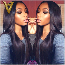 Lace Front Full Lace Wigs Natural Straight 8-24inch In Stock Unprocessed Cheap Grade 7A Brazilian Virgin Human Hair Wigs(China (Mainland))