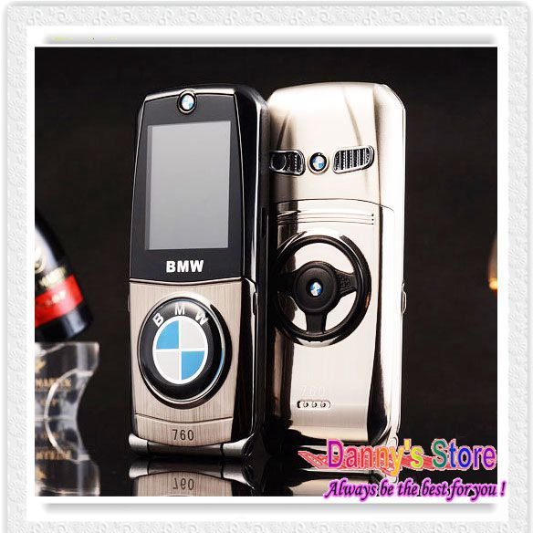 New arrival Luxury 760 Metal Body Mini Car Phone Unlocked Dual SIM Cards Flip Mini Mobile Phone MP3 MP4+Free shipping(China (Mainland))