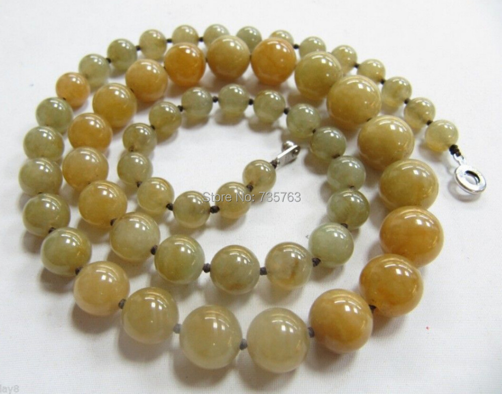 xiuli 0014433 NEW Authentic 100% Natural Hetian White Jade /Nephrite Lucky Bead Necklace<br><br>Aliexpress