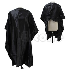 1PC Black Hair Cutting Adult Salon Barber Hairdressing Hairdresser Cape Gown Clothes-Y107(China (Mainland))