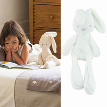 2016 Prmotion toy white cute rabbit soft plush toys baby doll sleeping comfort dolls toys gifts for children interactive doll(China (Mainland))