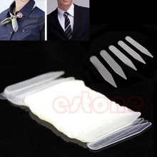 Free Shipping 200Pcs Plastic Clear Men Women Formal Shirt Collar Bones Stiffeners Stays Tabs