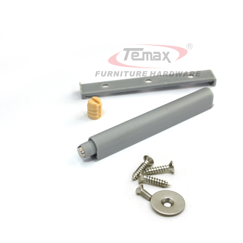 5PCS Grey Plastic Drawer Stops Push to Open System Door Damper Buffer Temax Door Hinge With Magnetic Tip PM01(China (Mainland))