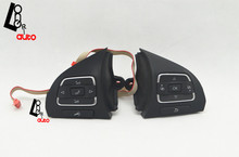 Steering Wheel Control Switch Button 5C0959537A/5C0959538B For VW Golf /Jetta /MKVI/ MK6 /Eos(China (Mainland))