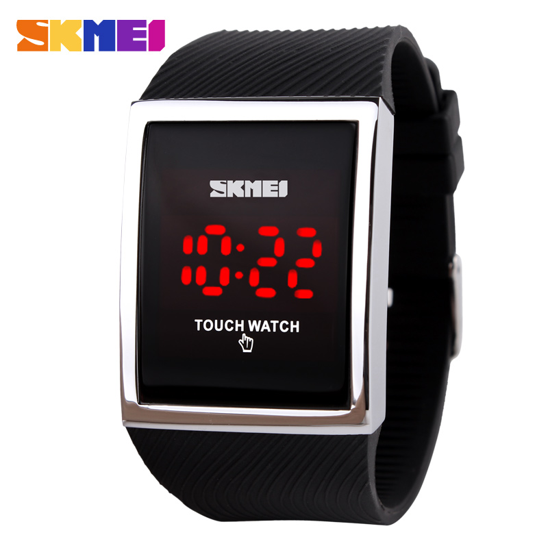 Hot Sale Promotion Fashion LED Watch for Ladies Digital Bracelet Wristwatches Women Touch Screen Electronic Watches(China (Mainland))