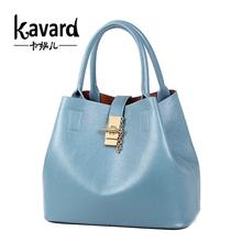 Kavard Women Bags 2016 Luxury Brand Summer Tote Famous Designer Brand Bags Women Leather Handbags Set Ladies cross body bag Girl