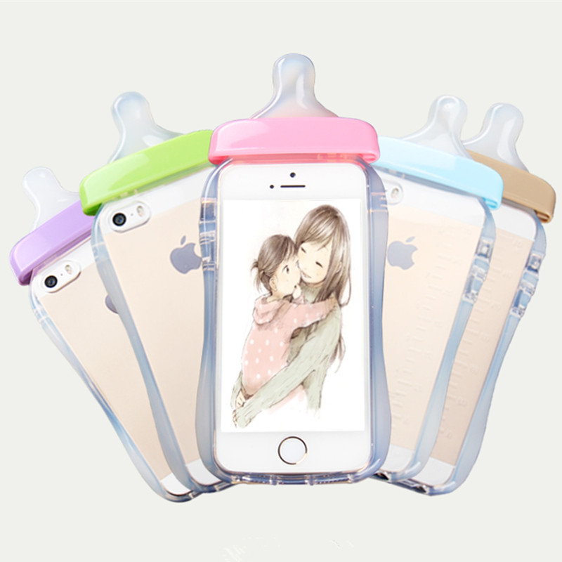 with Rope! Lovely 3D Cartoon Baby Kid Nipple TPU Case For iPhone 6 6s 4.7/6 plus 5.5 Crystal Clear Soft Back Cover Silicone Capa(China (Mainland))