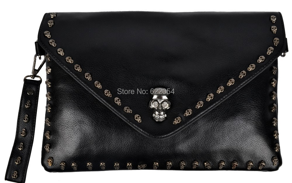 Wholesale 2015 novelty pu leather women shoulder clutch bags skeleton ladies handbags portable vintage tote bags messenger bag(China (Mainland))