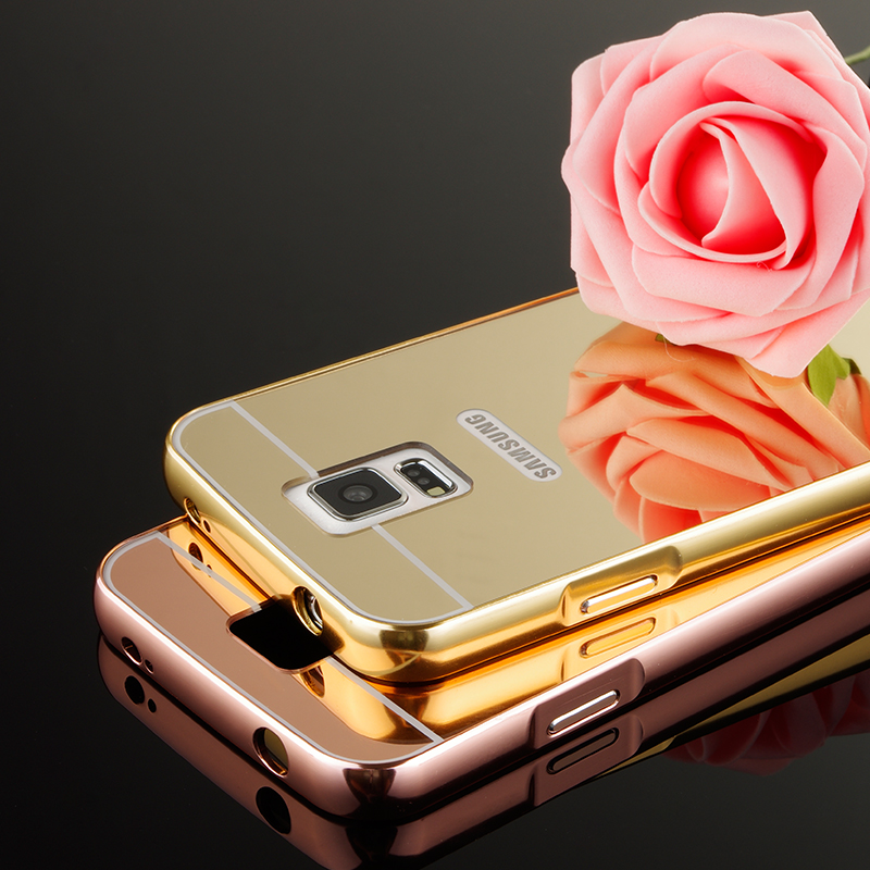 Mirror Case for samsung galaxy S5 i9600 luxury Aluminum Frame + Hard PC Plating Back Cover For samsung S5 Metal phone cover Case(China (Mainland))