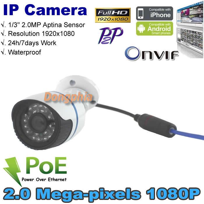 Free shipping Full HD ONVIF1080P 2.0 Megapixel Security Camera IR-Cut 960H CMOS Sensor Waterproof IP Camera Support PoE<br><br>Aliexpress