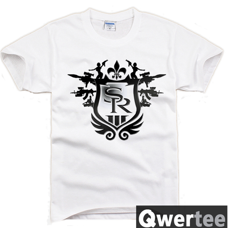 New 1 PCS Saints Row T-Shirts Tee Top Round Neck Tee Printing Cotton Free Shipping C139(China (Mainland))