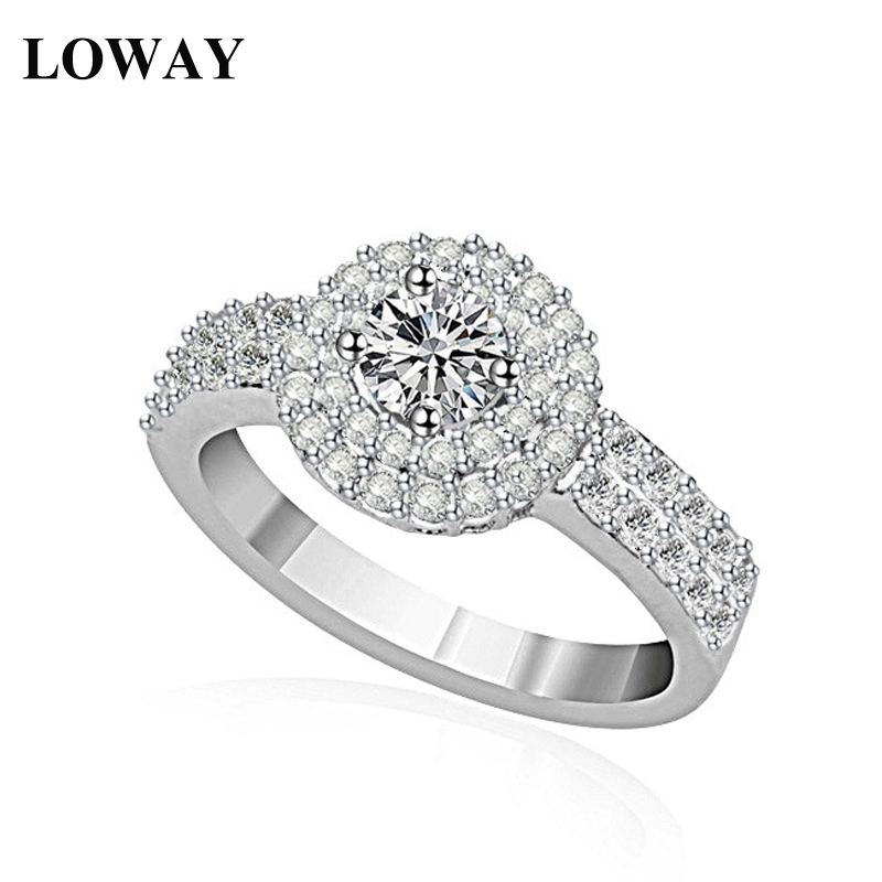 LOWAY Luxury Ring Women AAA+ Cubic Zirconia Platinum Plated Width Watch Shaped New Brand Femelle Bijoux JZ5811 - Jewelry Factory Store store
