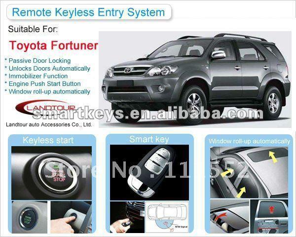 Car alarm system push start ignition keyless push button start Toyota Fortuner Shenzhen Landtour New Hot SUV