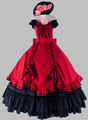 Gothic Black and Wine Red Off the Shoulder Victorian 1870 90s Dress Princess Dress Cosplay Dress