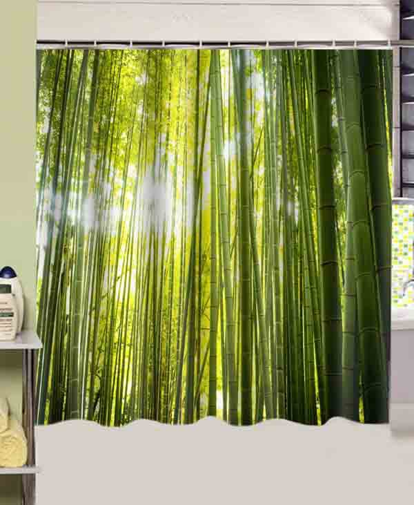 White Cotton Eyelet Curtains Tree Shower Curtain