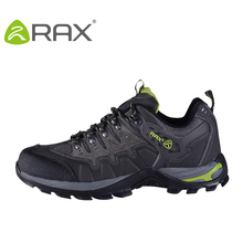 Rax Genuine Leather outdoor hiking shoes men women autumn and winter water shock absorption walking shoes sports shoe A631(China (Mainland))