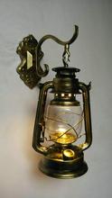 Урожай Железа Стеклянная Стена Лампы E27 модный персонализированные Черный Бронза Медь Керосиновые лампы