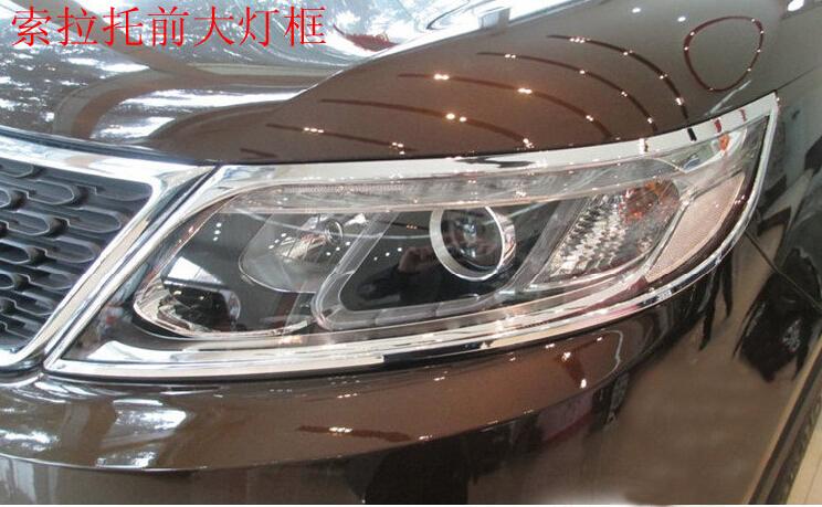 2009-2012 KIA Sorento ABS Chrome Front headlight Lamp Cover - Blessing car decoration store