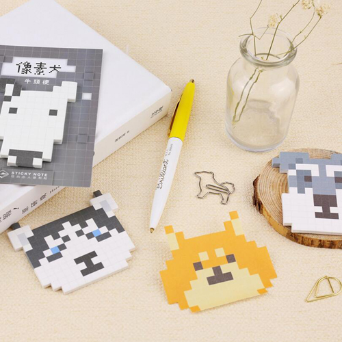 Kawaii pixels dog series sticky notes Cute gift memo pad Post it stationery memos Office school supplies (tt-2733)(China (Mainland))