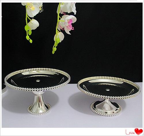 silveriness 3023 senior metal fruit plate cake stand cake pan wedding