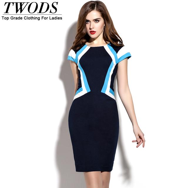 Twods European Style New Fashion Designer Bodycon Dress