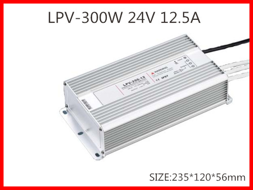 300W 24V 12.5A LED constant voltage waterproof switching power supply IP67 for led drive LPV-300-24(China (Mainland))