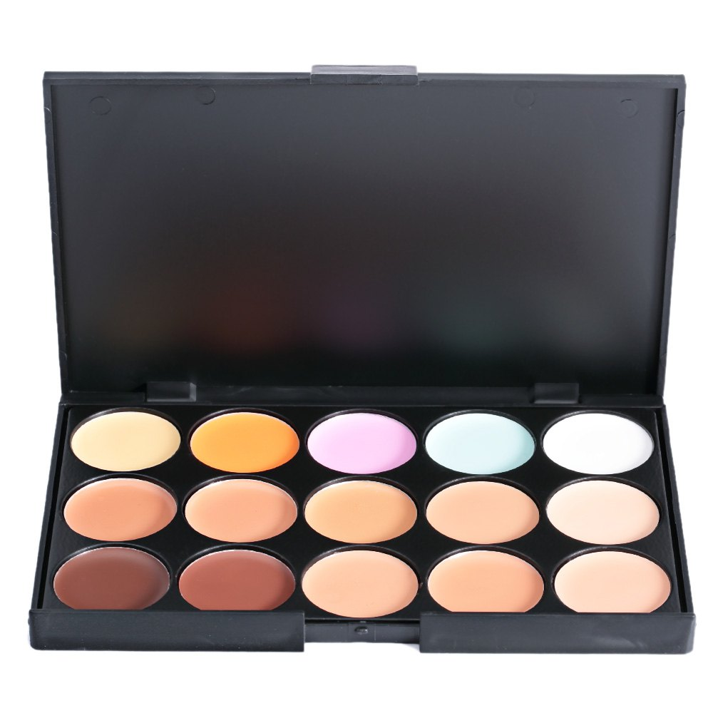 The New Fashionable 15 COLORS Professional Salon Party Concealer The Contour Face Cream Makeup Palette(China (Mainland))