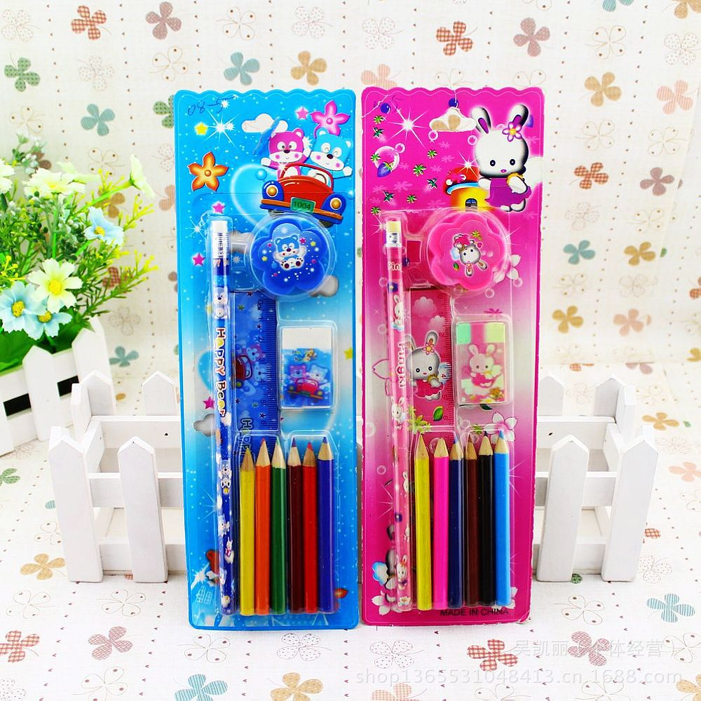 Kindergarten and pupils Prizes Stationery Set Student Gift Children's kawaii Birthday Gift school supplies school tools 210