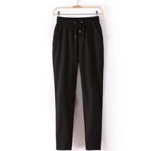 2016 New Summer Women Chiffon Pant Casual Harem Pants Women Trousers Pantalones Elastic Waist Loose Drawstring Female 05(China (Mainland))