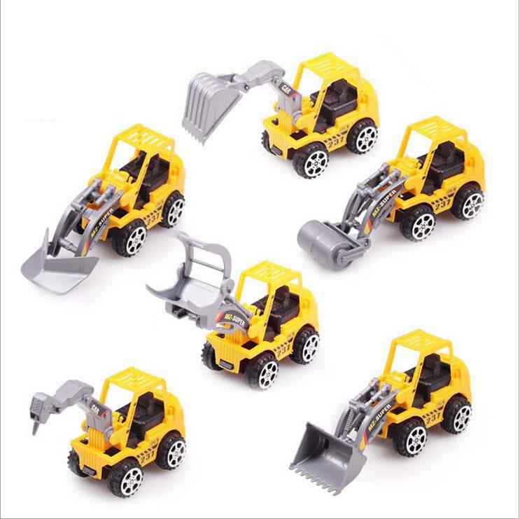 High quality 6 styles Engineering vehicle model mini children truck toys(China (Mainland))