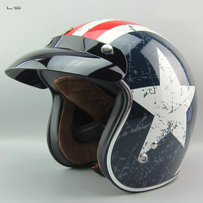 Ls Free Shipping Motorcycle helmet JET Helmet with America Star decoration super Composite Material TROC-V541<br><br>Aliexpress