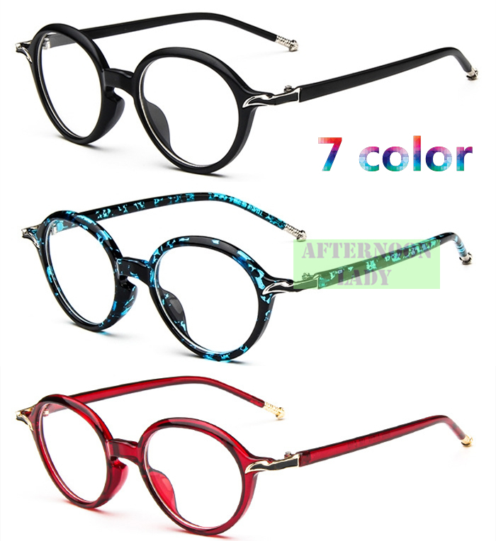 2015 New Fashion Men Women Unisex eyewear Round Big Frame Metal Hinge Leg computer Vintage Oculos De Grau Brand Design(China (Mainland))