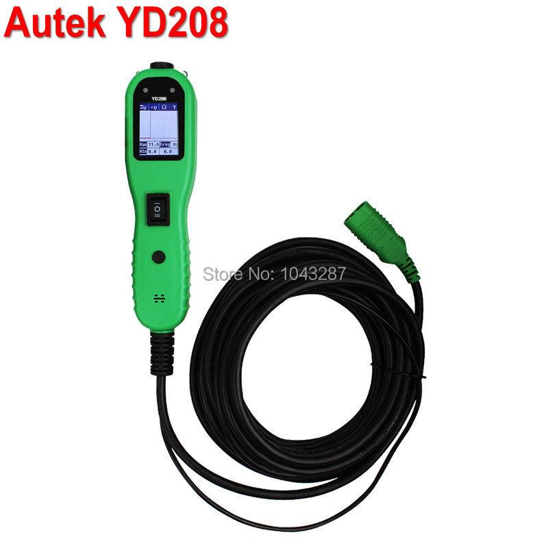 Оригинальный AUTEK YD208 силы электрическая цепь тестер сканирования для электрическая система диагностика автомобили грузовики AUTEK Powerscan инструмент
