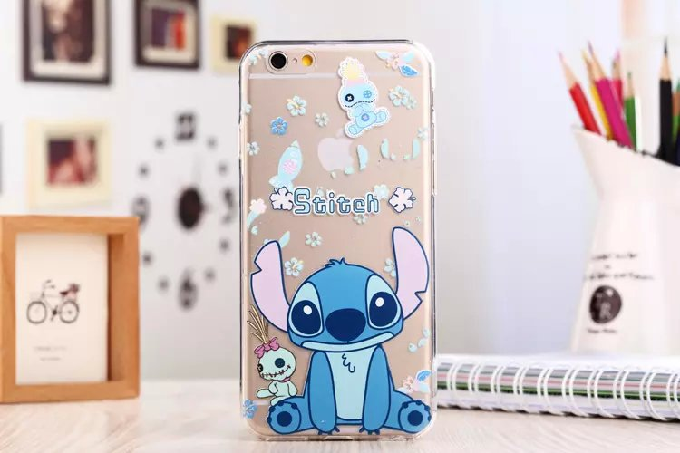 Cute Cartoon Rabbit Oswald, Dog Goofy, Donald Duck, Mickey Mouse soft Clear Jacket Transparent case cover for iphone 6 4.7inch(China (Mainland))