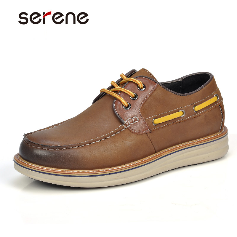 serene casual shoes grain leather shoes non slip