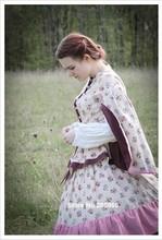 CUSTOM MADE 1860s Civil War Era Printing Ruffles Victorian Day Dress/ /Stage Dress/Holiday Dress