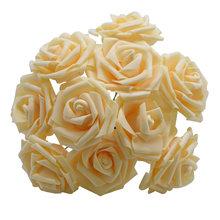 25 Heads 8CM New Colorful Artificial PE Foam Rose Flowers Bride Bouquet Home Wedding Decor Scrapbooking DIY Supplies(China)
