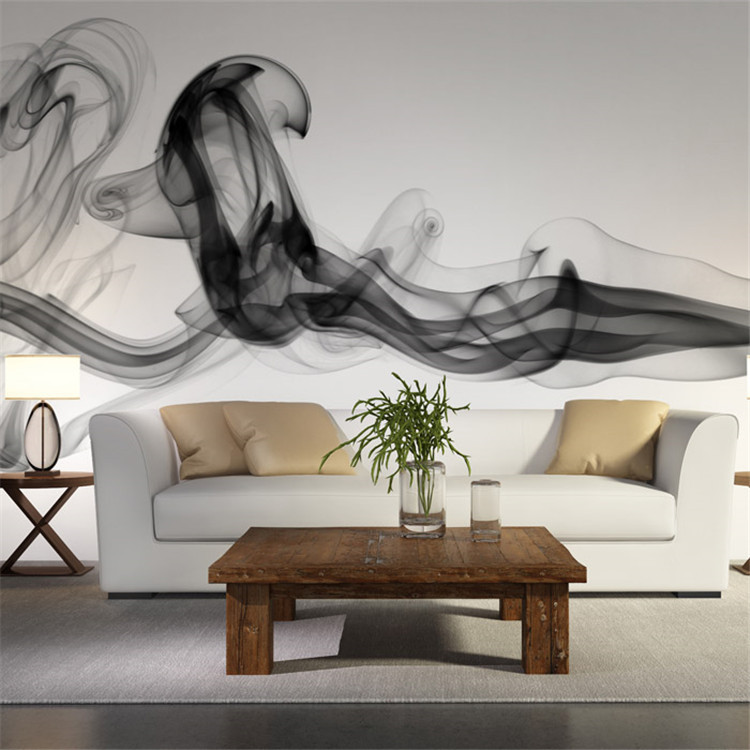 Modern wall mural picture more detailed picture about for Black and white wallpaper for bedroom