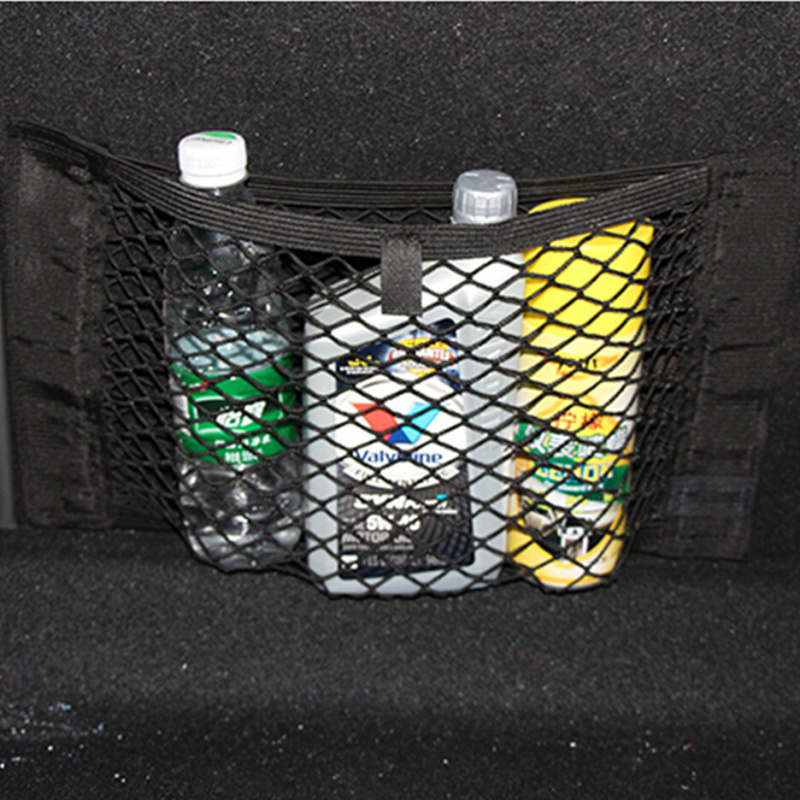 Car trunk mesh bag, Velcro tape, magic tape nets, truck net, net sling, string bag, vehicle stowing/ tidying elastic storage bag(China (Mainland))