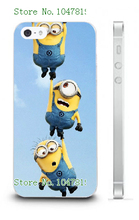 Mobile Phone Case Retail 1pc minions despicable me Protective White Hard Case For Iphone4 4S Free Shipping