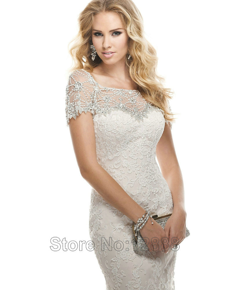 Wedding dresses with sleeves and lace for girl super for Big girl wedding dresses