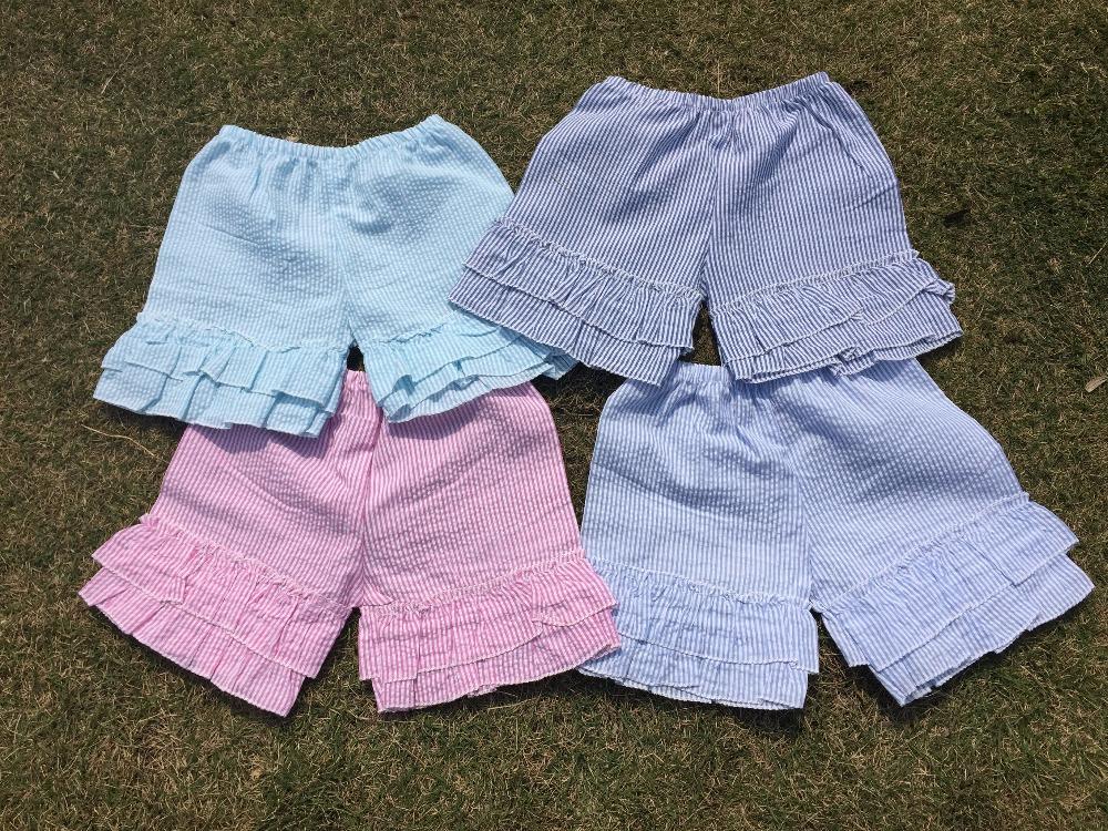 cheap seersucker short pants kids shorts kids summer Stripe&amp;checkered Beach Swim Children girls ruffle shorts<br><br>Aliexpress