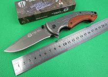 Oem Strider B47 bolsillo que acampa cuchillos de la supervivencia cuchillo de caza plegable herramienta de rescate de mango de madera 57HRC mejor que envía libremente