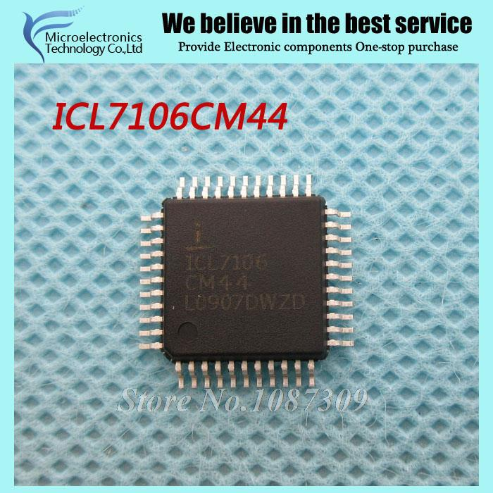 50PCS free shipping ICL7106 ICL7106CM44 QFP44 LCD Drivers W/ANNEAL ADC 3.5DIG LCD DRVR COM new original(China (Mainland))