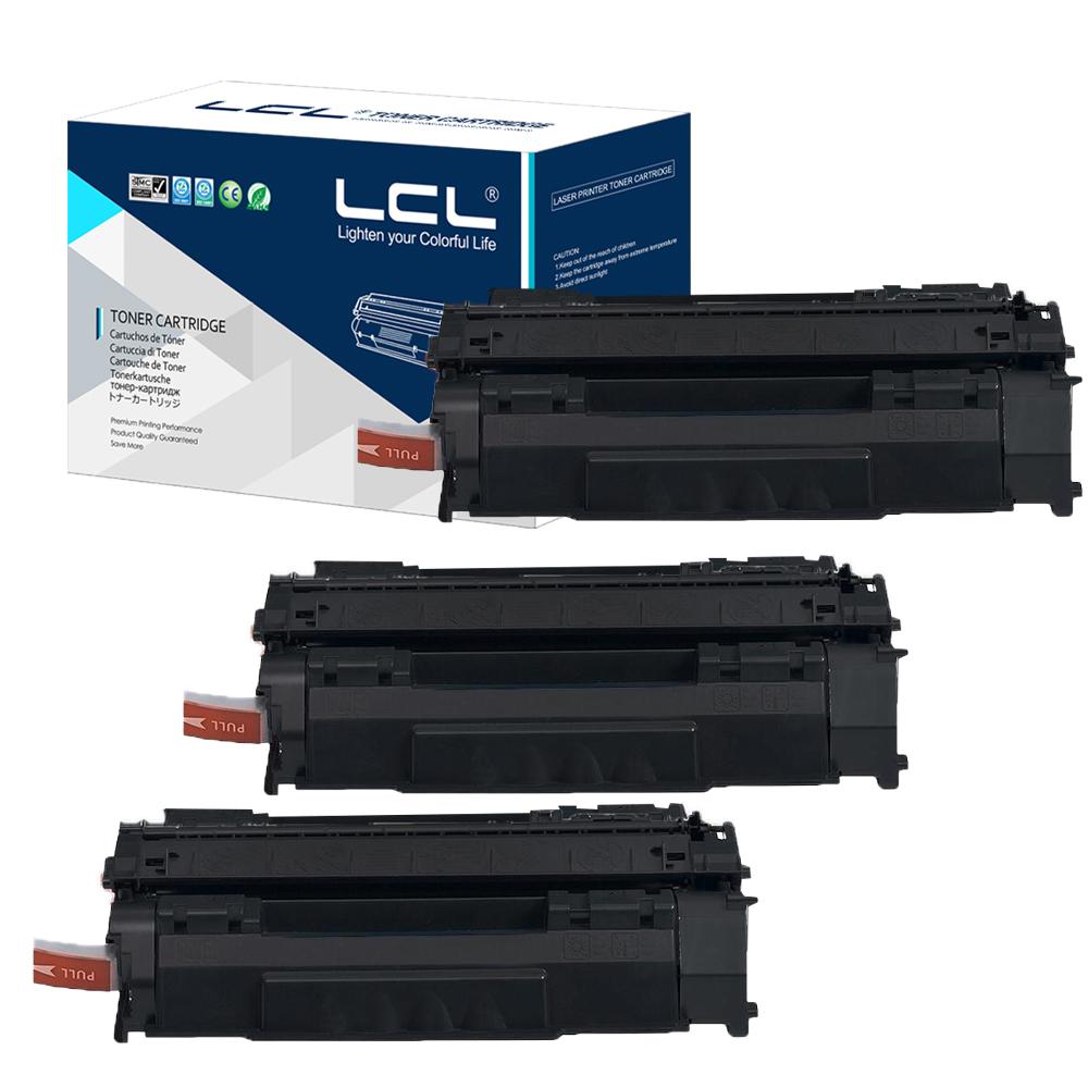 LCL crg715 crg-715 crg 715 (3-Pack) Black 3000 pages Laser Toner Cartridge Compatible Canon LBP-3310/3370