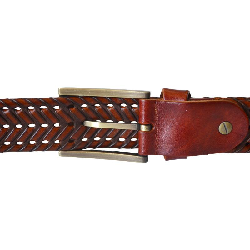 2015 New Fashion Male genuine leather belt Men braided Cow ...