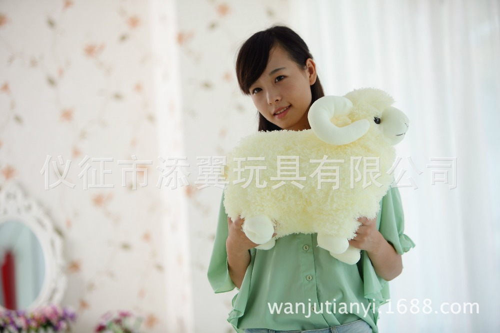 stuffed toy about 40cm sheep plush toy goat doll soft pillow toy, birthday gift b7072(China (Mainland))