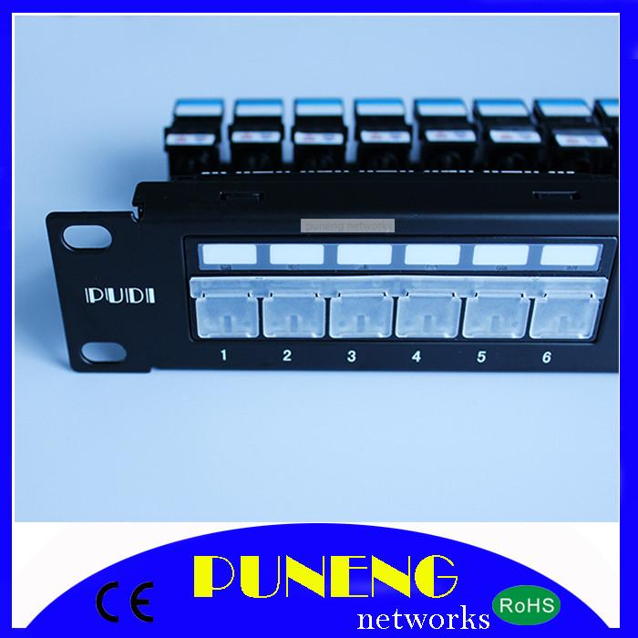 "24 Port Patch Panel RJ45 Network Lan Cat5e 1U 19"" Mount Rack HUB Patch Panel Pudi networks(China (Mainland))"